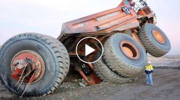 10 World Extreme Dangerous Idiots Dump Truck Operator Skill - Biggest Heavy Equipment Machines Fa...