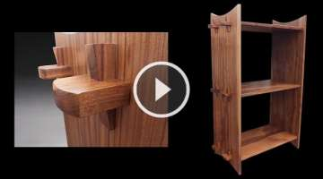 Building a Bookshelf Using a Wedged Through Tenon