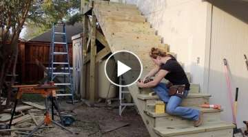Building a Large Outdoor Staircase - YouTube