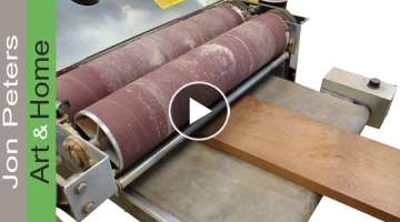 My Drum Sander & How To Make A Sapele Mahogany Top