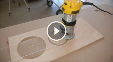 How to Build a Circle Cutting Jig for Your Router