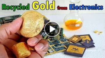 Recycle gold from electronics devices. e-waste Recycling scrap components connectors circuit Boar...