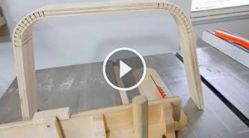 Bending Wood with Miter Gauge Kerf Jig