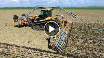 Injecting slurry w/ umbilical system | Challenger MT765C | VDB Slurry Swivel | M. van Gastel