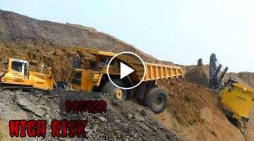 Extreme Dangerous Idiots Fastest Excavator Truck Fails, Heavy Equipment Machines Fails Working