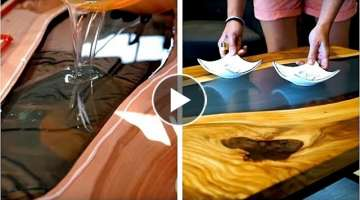 4 EPIC WOOD PROJECTS CREATED WITH EPOXY RESIN