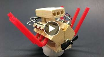 How to Make Powerful Mini V6 Motor