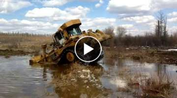 Caterpillar Dozer drowns