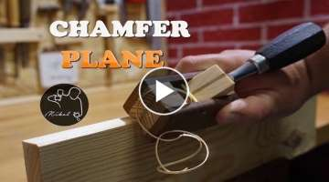 Wooden Chamfer plane for chisel, How to make