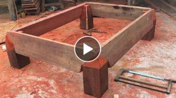 Amazing Carpenters Woodworking Extreme Skills Easy - Making And Assembling Table Base Legs Large