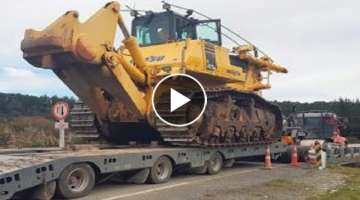 10 Extreme Dangerous Idiots Truck Transport Heavy Equipment Machines Operation Skill Driving Work