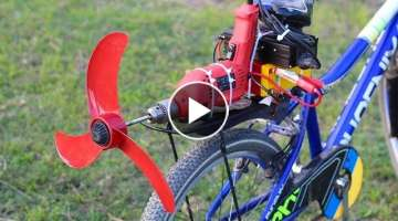 Homemade air bike using Drill
