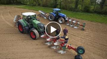 16 plowhshare ! FENDT 824 and NEW HOLLAND T7.270 - PLOWING