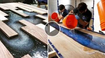 10 MOST Amazing Epoxy Resin and Wood River Table Designs ! DIY Woodworking Projects and Plans