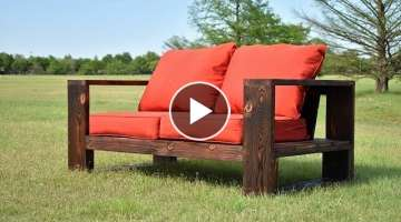 DIY Modern Outdoor Sofa - Shou Sugi Ban | Limited Tools