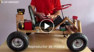 DIY electric Go Kart powered by Drill