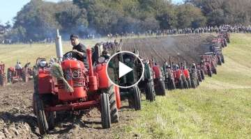 Volvo BM Ploughing | WORLD RECORD Attempt | 135 Tractors Ploughing in ONE Field | DK Agri