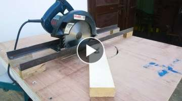 Circular saw track for cutting
