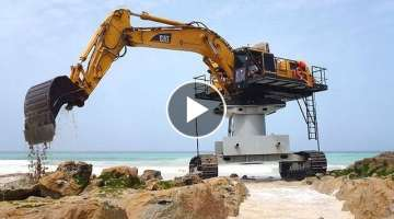 Extreme Dangerous Excavator Heavy Equipment Operator Skill Amazing Modern Construction Machiner...