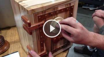 Wooden Combination Lock Mechanism