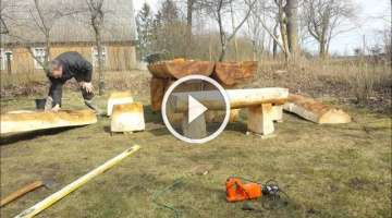 Time lapse Video: Building Log Benches and Table