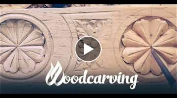 Woodcarving Baroque Flower Ornament ►► Timelapse