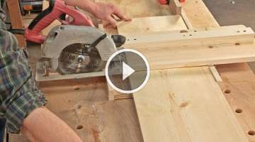 Crosscut Jig for Circular Saw