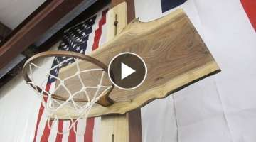 Making A Walnut Basketball Hoop For The Shop