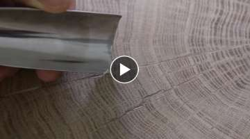 How to finish end grain wood slab