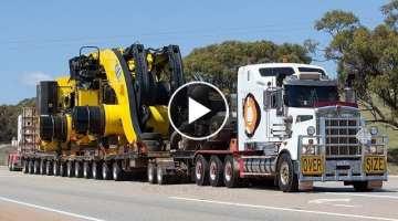 Australian Heavy Haulage - World's largest wheel loader - Guinness World Record LeTourneau L-23...