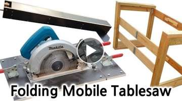 Make a folding mobile tablesaw fence
