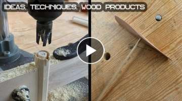 50 WoodWorking Ideas, Techniques and Wood Products. PERFECT Projects You Can Make | AVELID