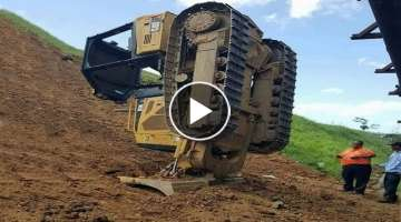 Dangerous Idiots Climb Excavator Bulldozer Fails Compilation Extreme Heavy Equipment Working