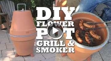 DIY Flower Pot Grill & Smoker