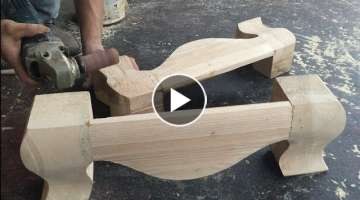 Amazing Skills Carpenter Woodworking Curved - How To Diy A Support For Cabinet