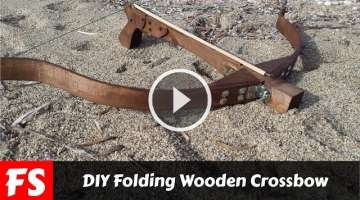 DIY Folding Wooden Crossbow (FS Woodworking)