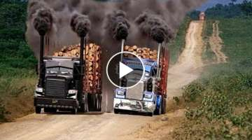 Awesome woodworking machines, Extremely Fastest Wood Sawmill Machines - Wood truck Modern